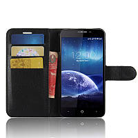 Чехол-книжка Litchie Wallet для Leagoo Kiicaa Power Черный