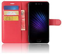 Чехол-книжка Litchie Wallet для Leagoo T5 Красный