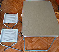 Набір меблів алюмінієвий для пікніка на 2 стільця, фото 1