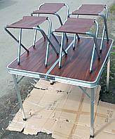 Набор мебели для пикника, стол-чемодан + 4 стула, фото 1