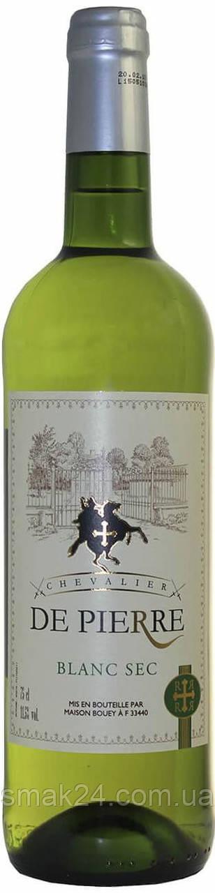 Вино белое сухое DE PIERRE   0,75 л Франция