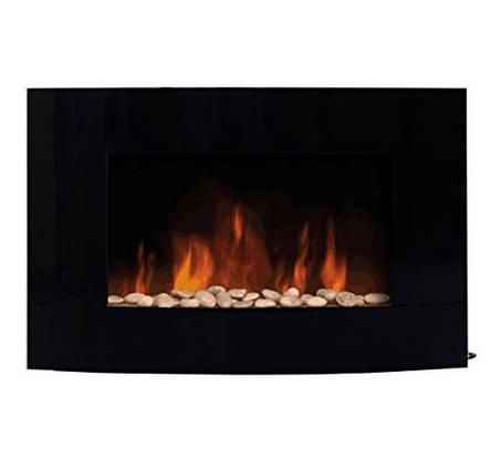 Электрокамин FIRESTYLE  LED GLASS 1000/2000 Вт черный, фото 2