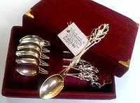 Набор из 6 шт. чайных серебряных ложек  СТ 36н