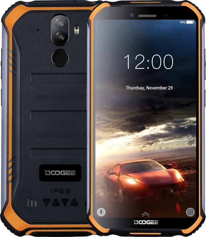 """Смартфон Doogee S40 3/32GB Dual Sim Fire Orange; 5.5"""" (960х480) IPS / MediaTek MT6739 / ОЗУ 3 ГБ / 32 ГБ встроенной + microSD до 32 ГБ / камера 8+5 Мп"""