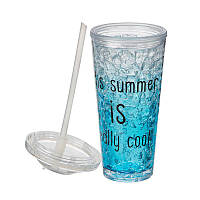 Охлаждающая стакан Ice Cup 550 мл. BLUE, фото 1
