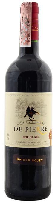 Вино красное сухое DE PIERRE   0,75 л Франция
