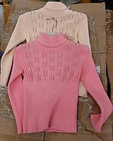 Гольф детский на девочку, р.98-122, стойка, розовый