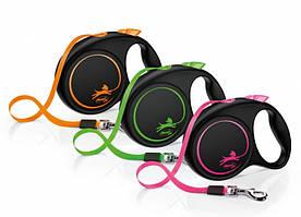Flexi Limited Edition М поводок-рулетка для собак ( 5м , до 25кг , лента )