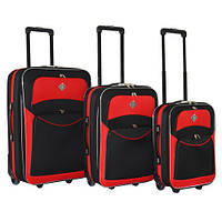 Набор чемоданов на колесах Bonro Best Черно-красный 3 штуки, фото 1