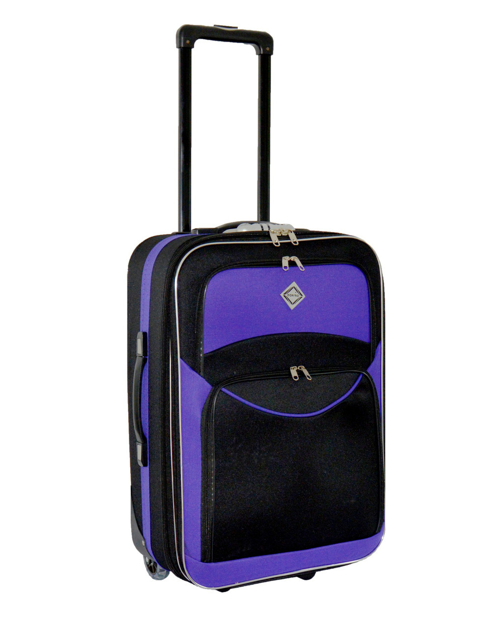 Дорожный чемодан на колесах Bonro Best Черно-фиолетовый Небольшой