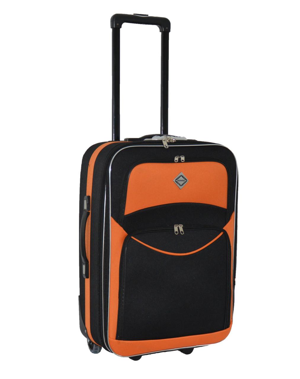 Дорожный чемодан на колесах Bonro Best Черно-оранжевый Небольшой