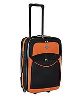 Дорожный чемодан на колесах Bonro Best Черно-оранжевый Небольшой, фото 1