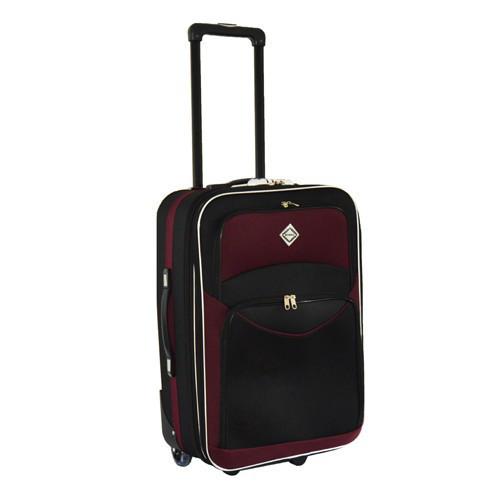 Дорожный чемодан на колесах Bonro Best Черно-вишневый Небольшой