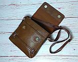Мужская сумка через плечо Jeep. Коричневая. 21см х 19см / Кожа PU. 554 brown, фото 6