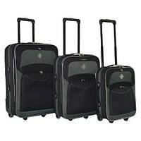 Набор чемоданов на колесах Bonro Best Черно-серый 3 штуки, фото 1
