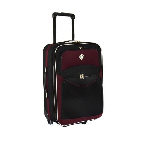 Дорожный чемодан на колесах Bonro Best Черно-вишневый Средний