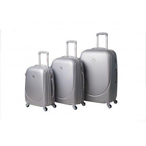Набор чемоданов на колесах Bonro Smile Серебряный 3 штуки