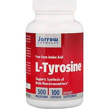 """L-тирозин Jarrow Formulas """"L-Tyrosine"""" 500 мг (100 капсул)"""
