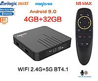 Magicsee N5 MAXS905X3 - недорогая и мощная ТВ приставка, 4/32GB, Amlogic S905X3, Android 9.0