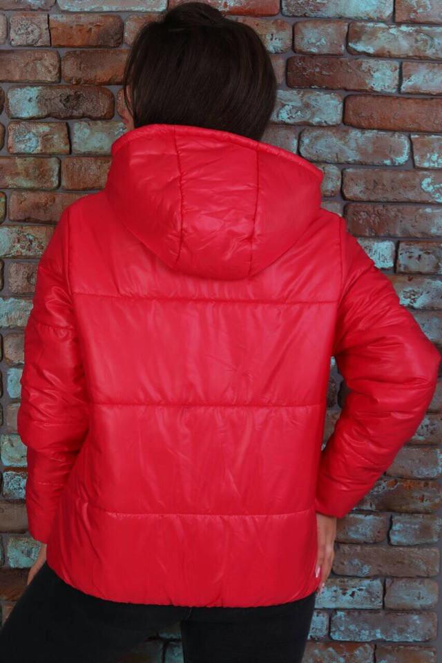 Женская короткая легкая куртка с капюшоном (6расцв). 46-56р.