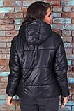 Женская короткая легкая куртка с капюшоном (6расцв). 46-56р., фото 6