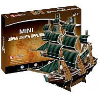 3D пазл CubicFun Mini Корабль Месть королевы Анны (S3031h), фото 1