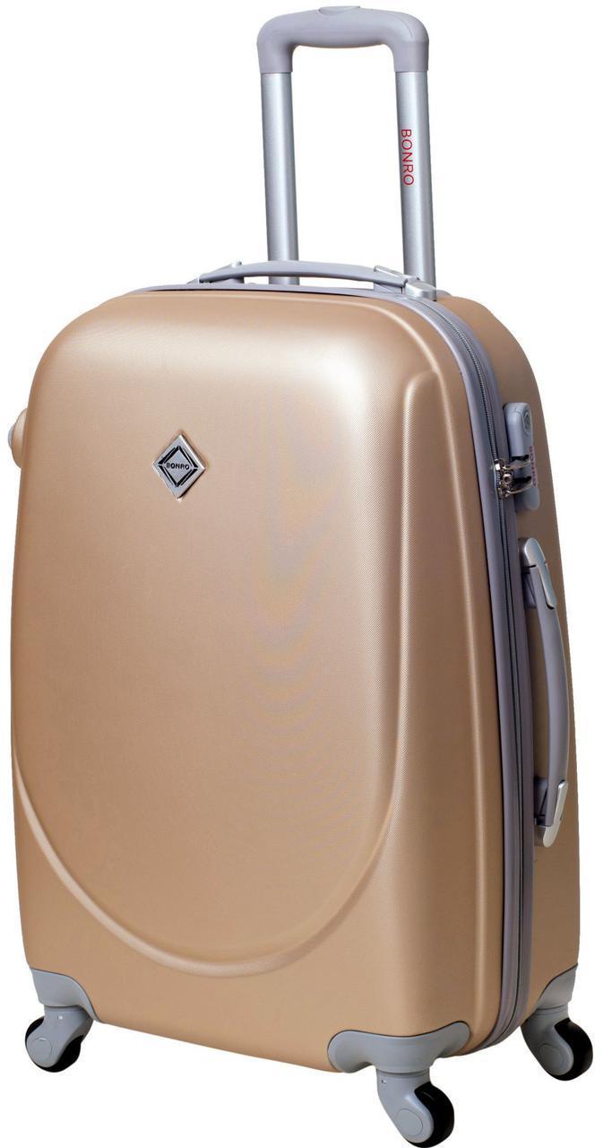 Дорожній валізу на колесах Bonro Smile Шампань Середній