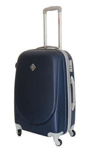 Дорожный чемодан на колесах Bonro Smile Темно-синий Средний
