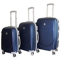Набор чемоданов на колесах Bonro Smile с двойными колесами Темно-синий 3 штуки, фото 1
