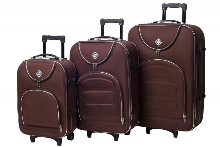 Набор чемоданов на колесах Bonro Lux Coffee 3 штуки
