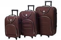Набор чемоданов на колесах Bonro Lux Coffee 3 штуки, фото 1