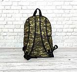 Вместительный рюкзак New Balance, нью бэланс. Пиксель, хаки, камуфляжный., фото 6