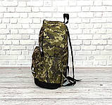 Вместительный рюкзак New Balance, нью бэланс. Пиксель, хаки, камуфляжный., фото 9