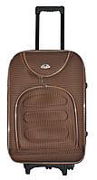 Дорожный чемодан на колесах Bonro Lux Coffee-клетка Средний, фото 1