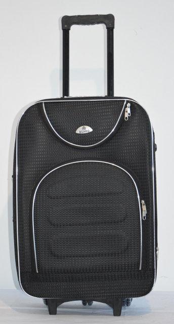 Дорожный чемодан на колесах Bonro Lux Черный-клетка Большой