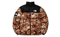 Зимняя куртка Supreme x The North Face Nuptse 700 Backpack Maple leaves