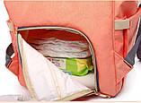 Сумка-рюкзак для мам LeQueen. Сиреневый, фото 8