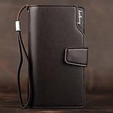 Стильний чоловічий шкіряний клатч, гаманець. Коричневий. Baellerry Active. Балери, фото 2
