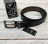 Стильный мужской ремень, пояс из натуральной кожи Gucci, гучи. Черный + Коробочка / RG 821, фото 7