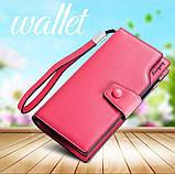 Стильный женский кошелек, клатч Baellerry Business Woman New, балери. Розовый, фото 6