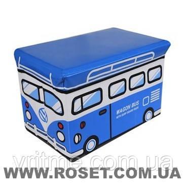 Пуфік-ящик для іграшок нарру bus