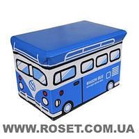 Пуфік-ящик для іграшок нарру bus, фото 1
