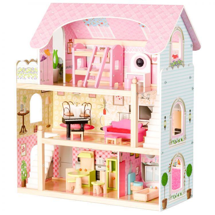 Великий ігровий ляльковий будиночок Ecotoys 4110 Fairy + 4 ляльки