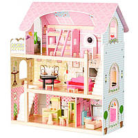 Большой игровой кукольный домик 4110 Fairy + 4 куклы