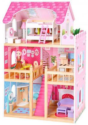 Ігровий ляльковий будиночок Ecotoys 4119 Tima Toys + 2 ляльки, фото 2