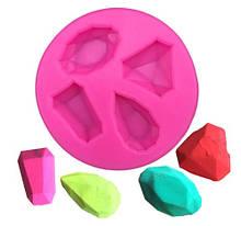 "Молд силиконовый ""Бриллианты"" - диаметр молда 6,6см"