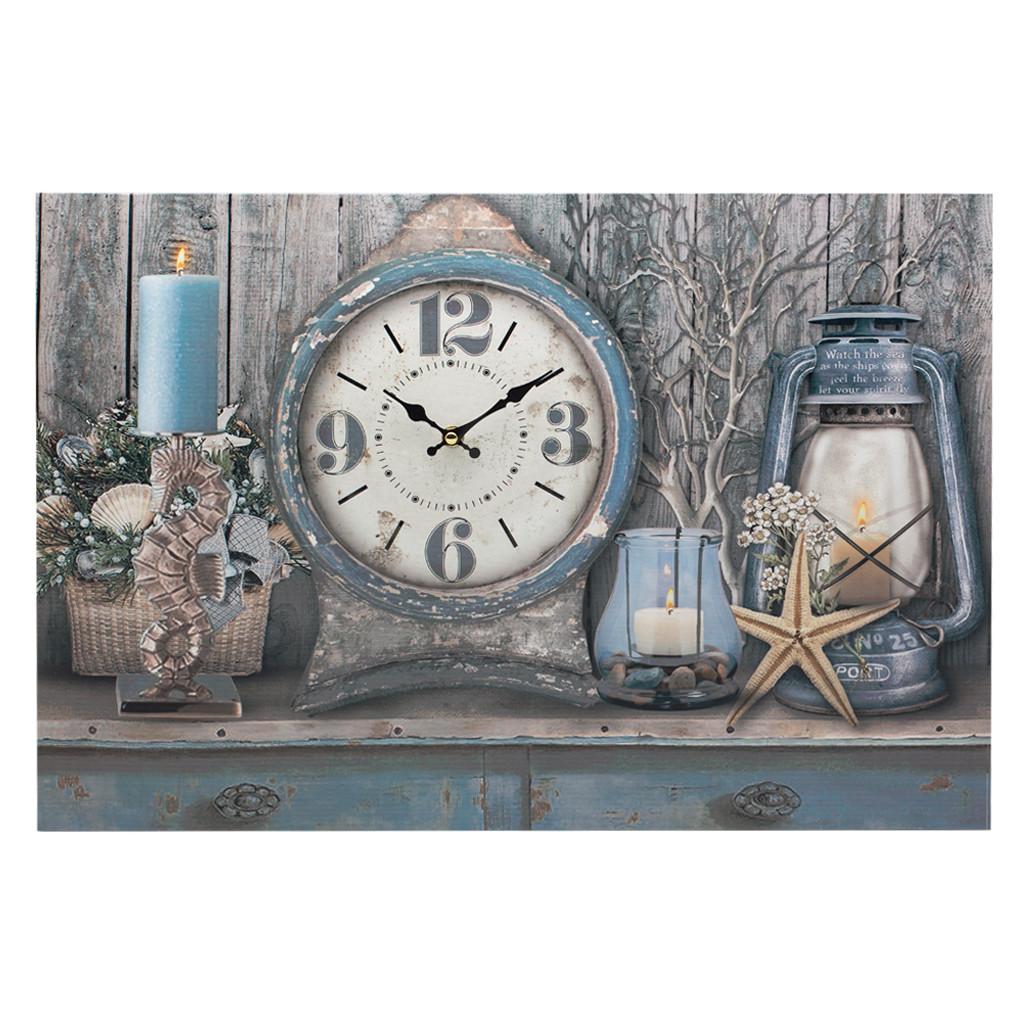 """Часы-картина с подсветкой """"Sea 60 cм 108472"""