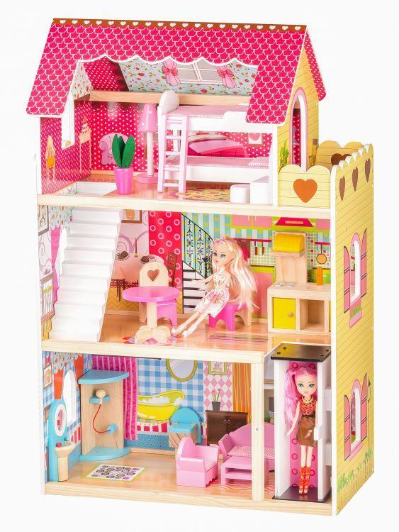 Ігровий ляльковий будиночок  Ecotoys 4120 Roseberry + ліфт