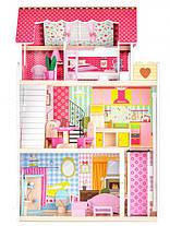 Ігровий ляльковий будиночок  Ecotoys 4120 Roseberry + ліфт, фото 3