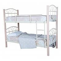 """Двоярусне металеве ліжко """"Лара Люкс Вуд"""" (8 кольорів)"""